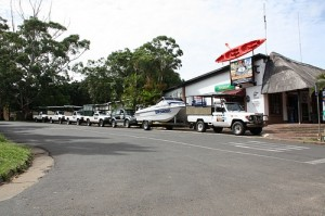 The fleet of game drive vehicles