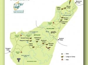 hluhluwe game reserve map